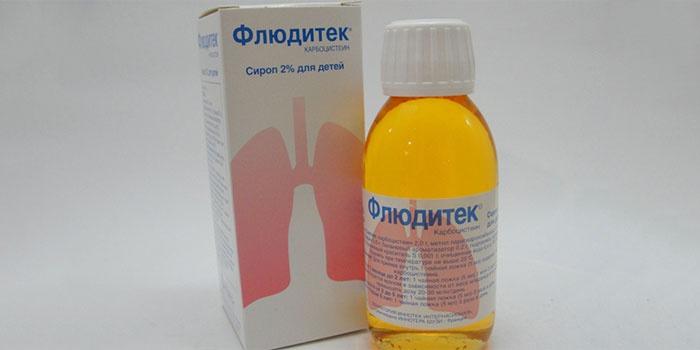 Флюдитек для лечения бронхита у детей