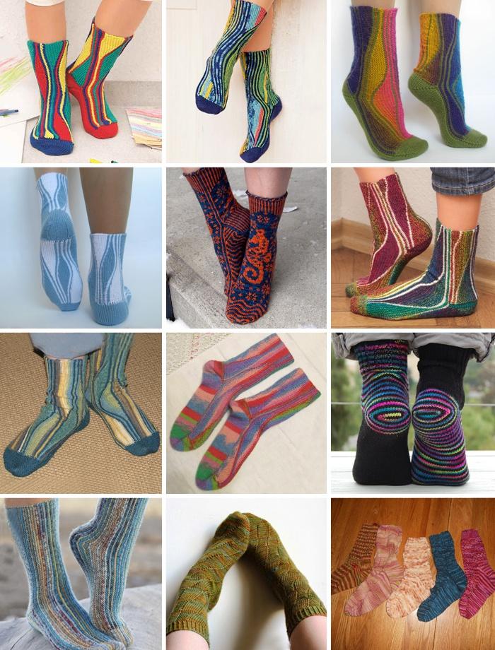 Вязаные носки в стиле свинг