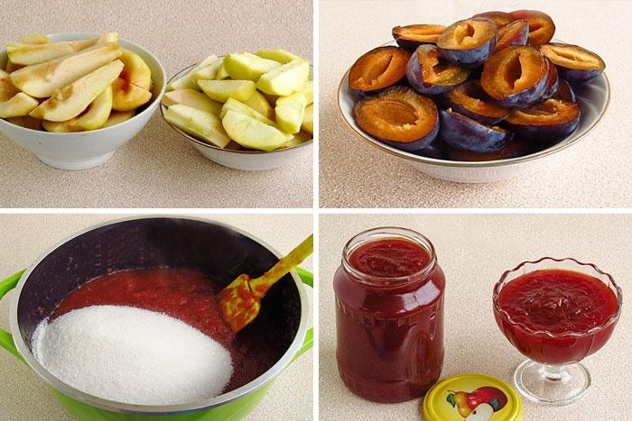 Рецепт повидла из яблок, слив и груш