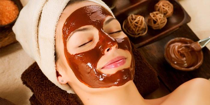 Маска с маслом какао для лица