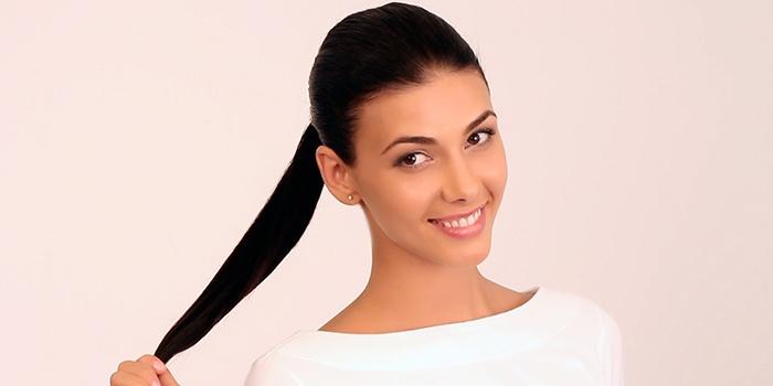 Конский хвост на длинные волосы