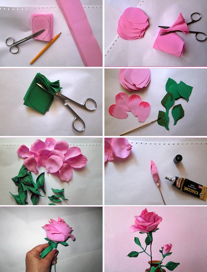 Как делать цветы из фоамирана мастер класс