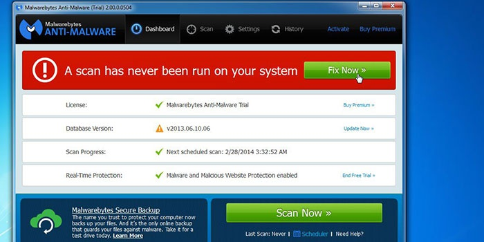 Malwarebytes Antimalware для удаления вредоносного ПО
