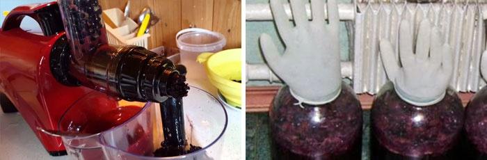 Приготовление вина из сока черноплодной рябины