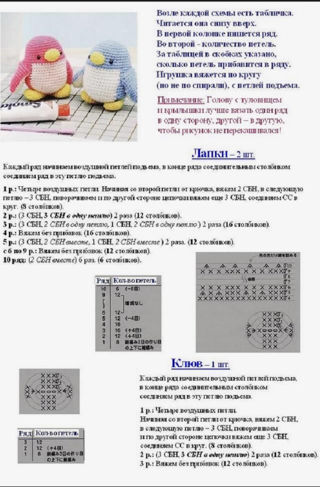Схема вязания игрушек крючком