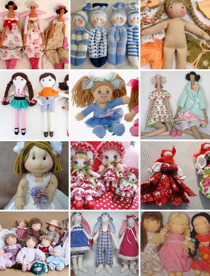 Куклы, сделанные своими руками из ткани
