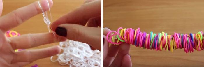 Как плести браслет лентяй на пальцах