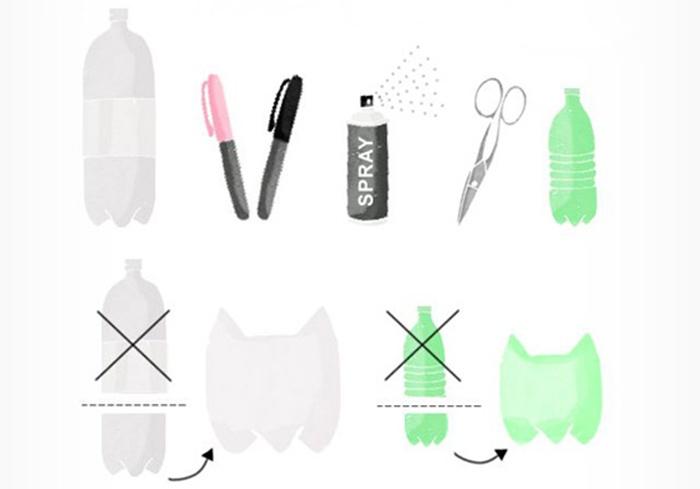 7561115-6 Поделки из бутылок пластиковых своими руками, пошагово, фото