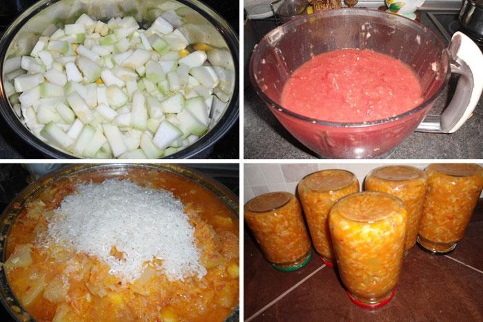 Приготовление кабачков с рисом