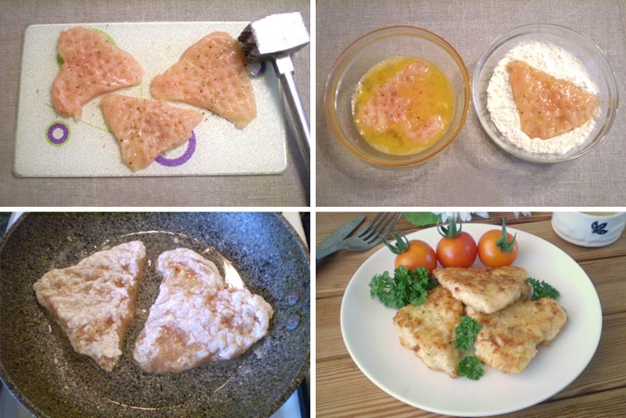 Блюда из куриного филе на сковороде