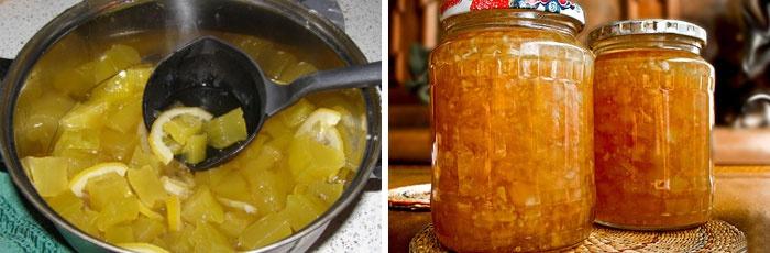 Заготовка из кабачков и апельсинов