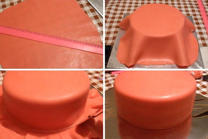 Как покрыть детский торт мастикой