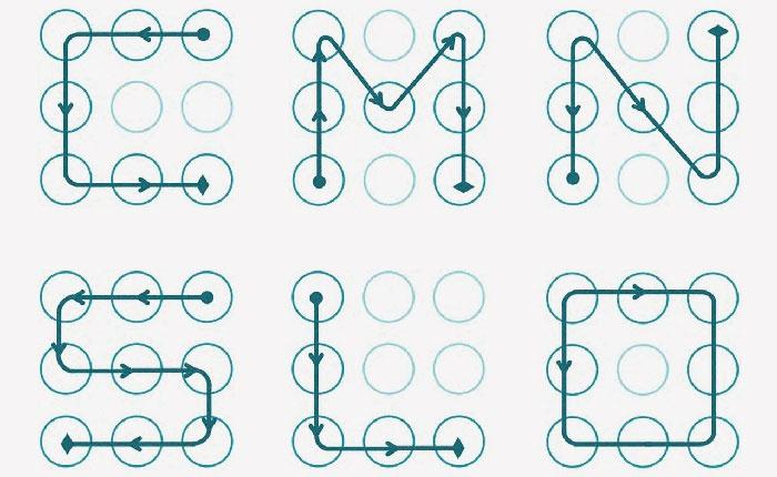 Типичные примеры графических ключей андроид