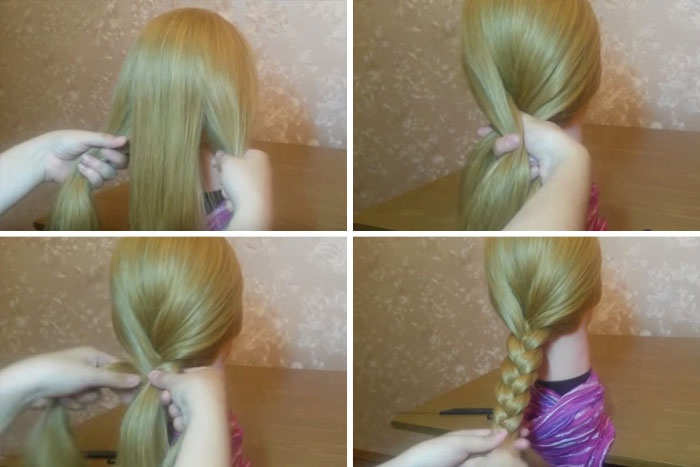 Как плести косу из трех прядей