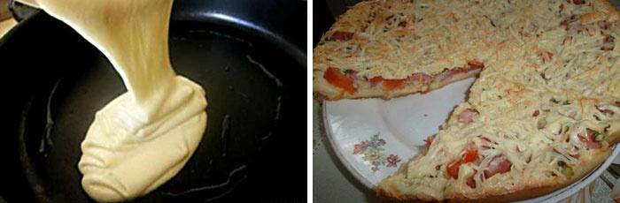 рецепт мягкого теста для пиццы на кислом молоке
