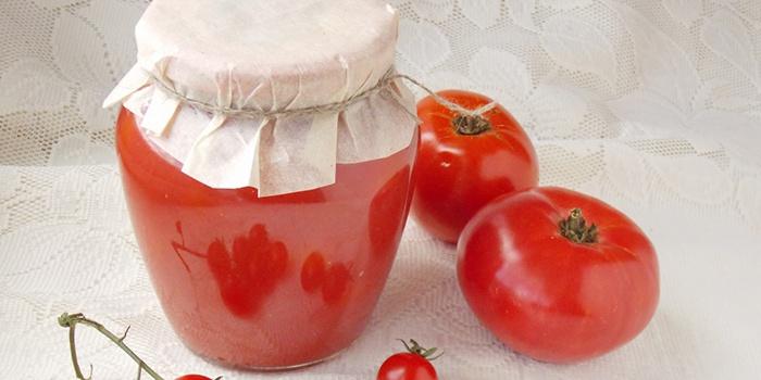 Томатный сок, приготовленный в пароварке
