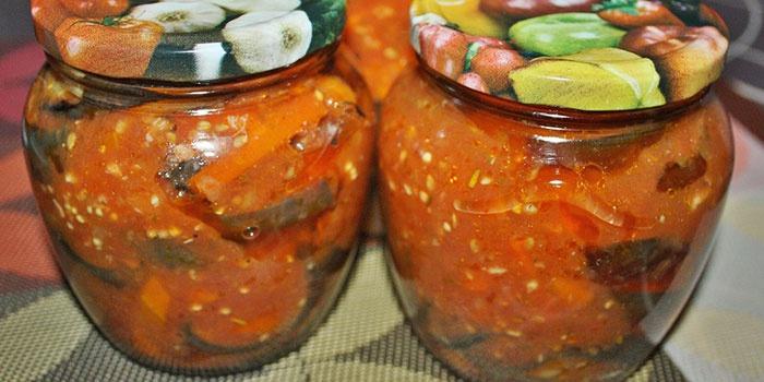 Жареные кабачки в томатной заливке