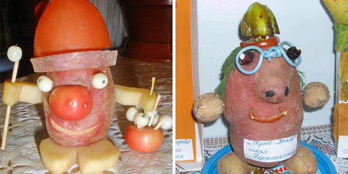 Человечки из картофеля, сделанные своими руками