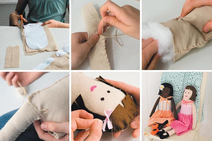 Как пошить текстильную интерьерную куклу