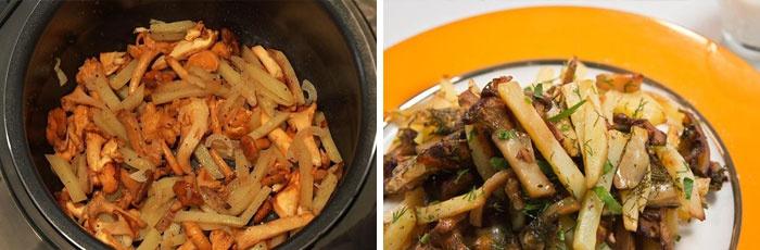 Как приготовить грибы лисички жареные с картошкой