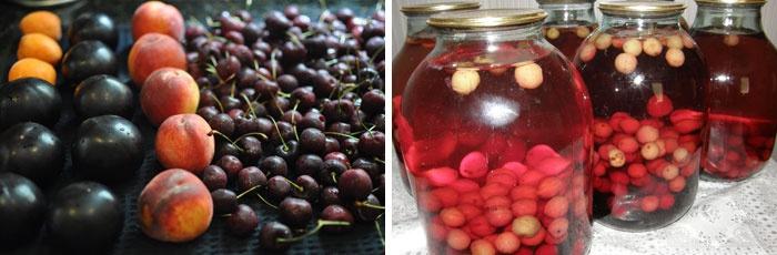 Зимние запасы и фрукты