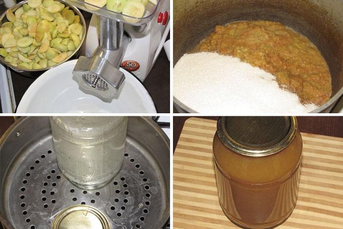 Процесс консервации яблок