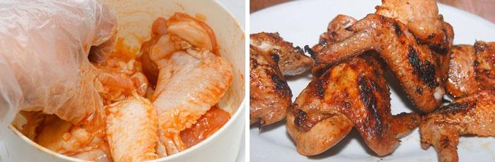 Крылышки в медово-горчичном соусе на мангале