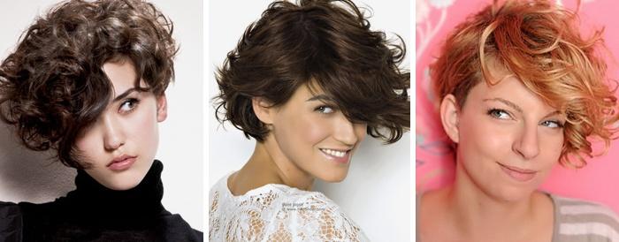 Короткие женские стрижки на кудрявые волосы