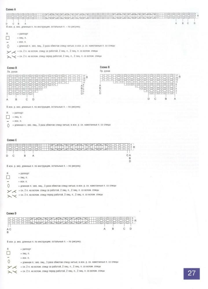Схема с описанием как вязать длинный кардиган