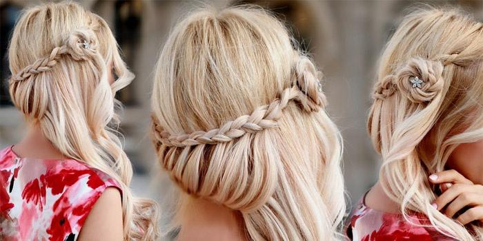 Прически с плетением на длинных волосах