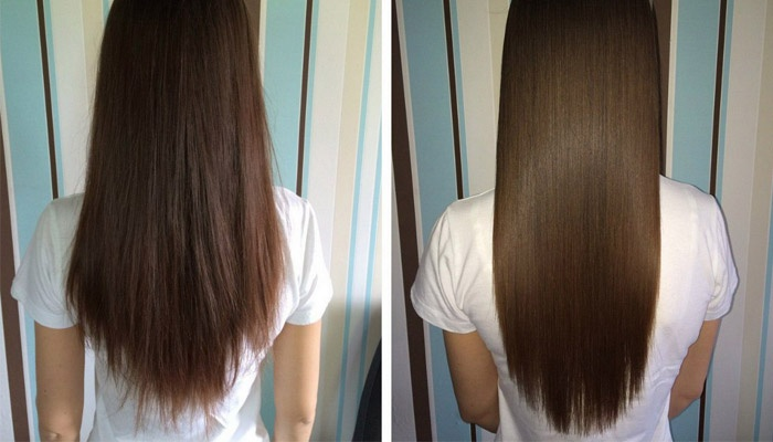 Прическа до и после