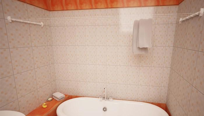 Расположение в ванной