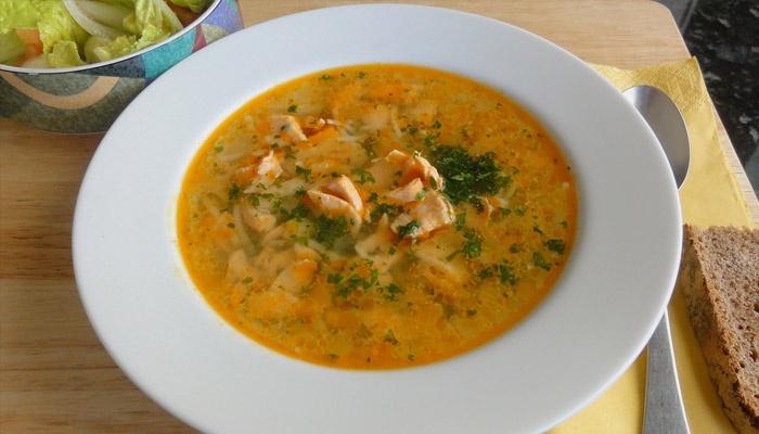 Суп с горбушей