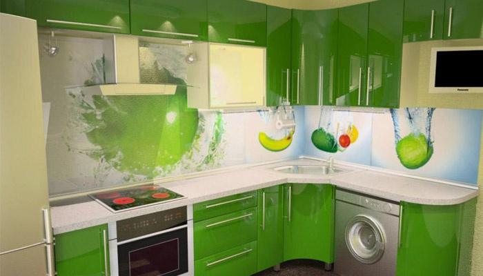 Современный дизайн в зеленых тонах