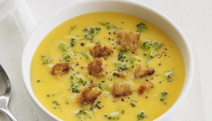 Куриный сырный крем-суп