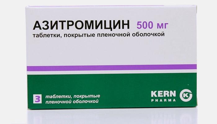 Препарат Азитромицин для лечения хламидиоза