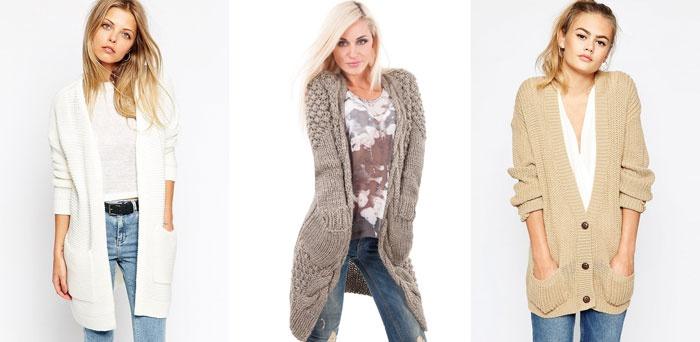 Модные модели вязаных кардиганов спицами