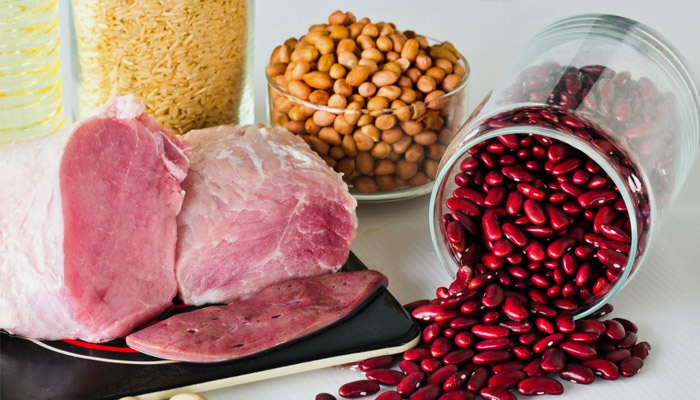 Мясо и бобы, где содержится витамин B