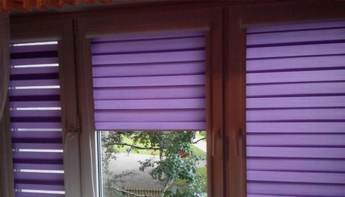 Фиолетовые жалюзи