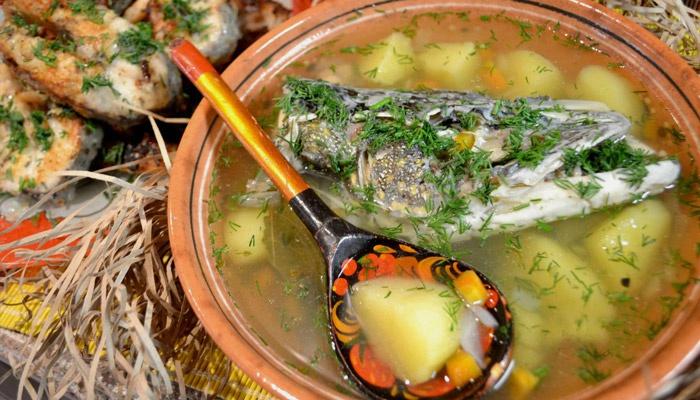 Первое блюдо из голов рыбы