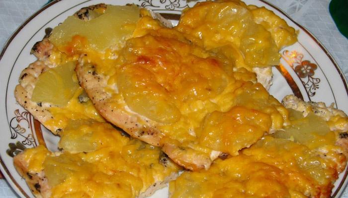 Картошка с мясом и сыром
