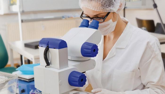 Девушка проверяет соскоб на энтеробиоз