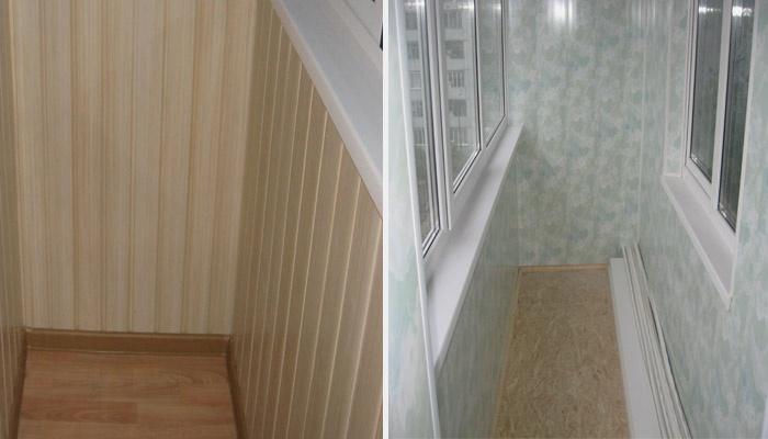 Примеры облицовки балкона