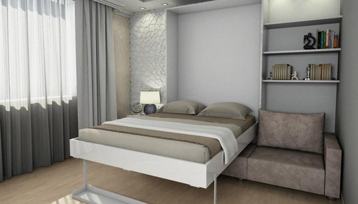Шкаф-кровать в интерьере комнаты