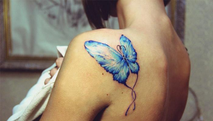 Бабочка на лопатке