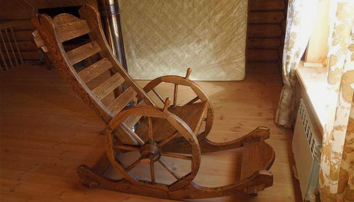 Кресло-качалка из дерева, сделанное своими руками
