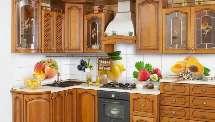 Изображение фруктов на фартуке