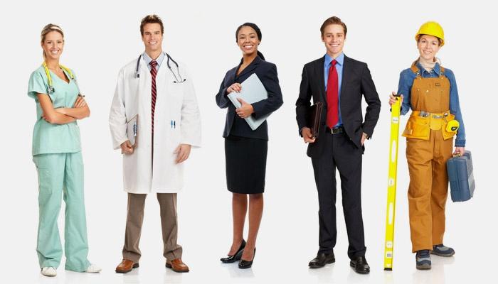 Представители разных профессий