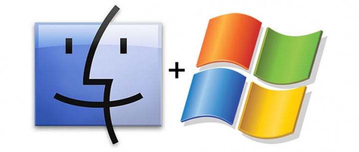 Логотипы Мака и Виндовса
