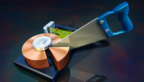 Схематичное форматирования раздела диска